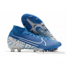 19SS新作 ナイキ Nike Mercurial Superfly VII Elite AG-PRO - AT7892-414 Blue Hero/White/Volt/Obsidian ナイキマーキュリアル スーパーフライ7 エリート AG-PRO メンズ 固定式スパイク サッカー シューズ